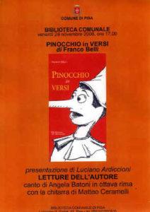 Pinocchio in versi a Pisa